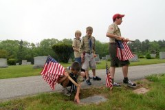 Boy Scouts traditionally have decorated the graves of war veterans on Memorial Day.
