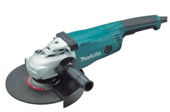Bell is accused of assaulting Anderson with an angle grinder, similar to this tool.