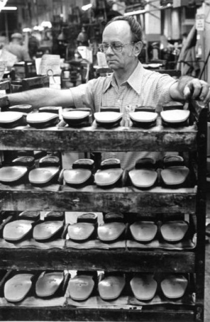 Manchester residents always put their best foot forward when they were wearing locally made shoes.