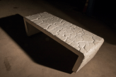 "Desert Impressions Bench no. 2, 2014, stainless steel and cast concrete, 17"" x 60"" x 22"""