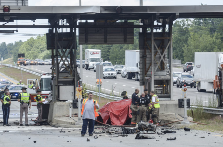 Aftermath of Aug. 20 crash that claimed the life of John McDonough of Merrimack.