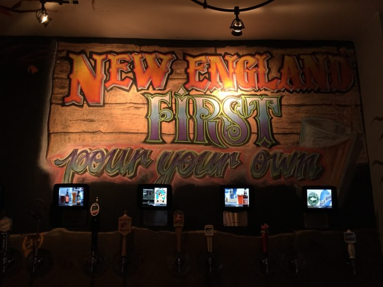 Original mural art inside the Central Ale House, part of an original concept for a neighborhood pub.