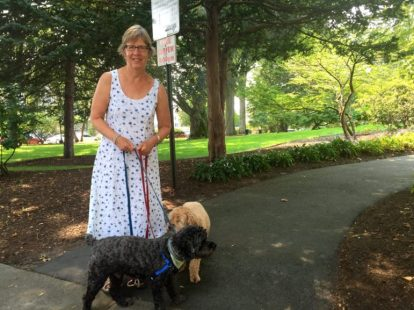Susan Woods, a neighbor of Wagner Park and now an official Friend – she is among a small group of neighbors officially adopting the park for safe keeping.