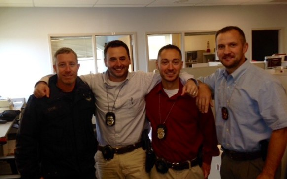 Manchester Police Child Abuse and Sexual Exploitation (CHASE) Unit, who work very closely with the CAC in Manchester, from left, Detective Stephen FLynn, Detective Justin Breton, Detective Brian Attardo, and Sergeant Matthew Larochelle.