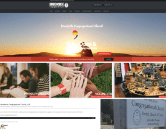 Brookside Church launches new interactive website.