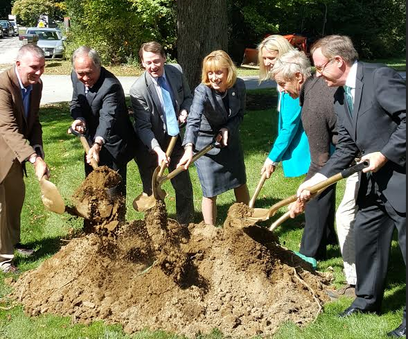 Ceremonial groundbreaking in Bartlett for new addiction recovery site.