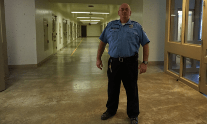 Department of Corrections Officer Douglas Bishop is pictured in the Secure Psychiatric Unit at New Hampshire State Prison for Men.