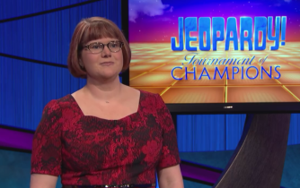 Nail-biter: Kerry Greene has some catching up to do if she's gonna win the Jeopardy Tournament of Champions.