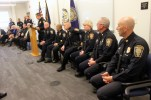 Monday's ceremony at the Manchester Police Department was equal parts celebration, levity and heart.