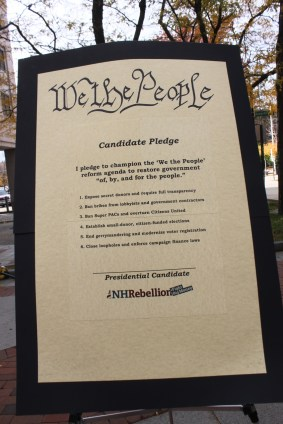 We the People Pledge outlines six initiatives.