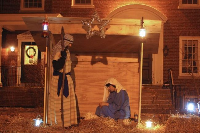 Annual Brookside Congregational Church Living Nativity.