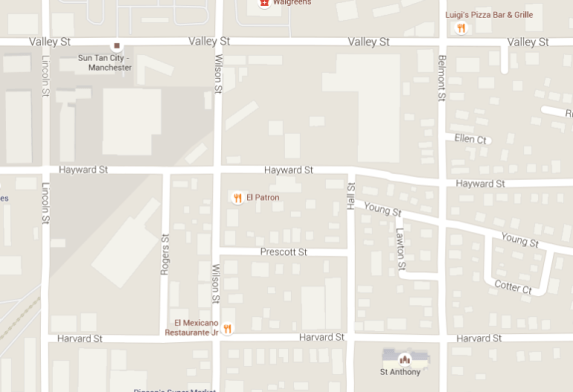 Area of police activity related to a reported shooting incident on Prescott Street.