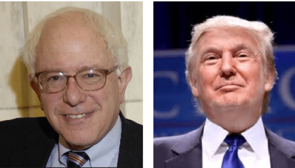 Sander and Trump leading the polls on the eve of the NH Primary.