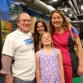 From left, Greg Rehm, project manager for Building on Hope, with daughters Marley, Kate, and wife Annie.