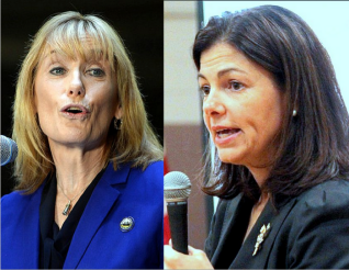 NH Democratic Gov. Maggie Hassan, left, and Sen. Kelly Ayotte, R-NH, who are vying for a NH Senate Seat in 2016.