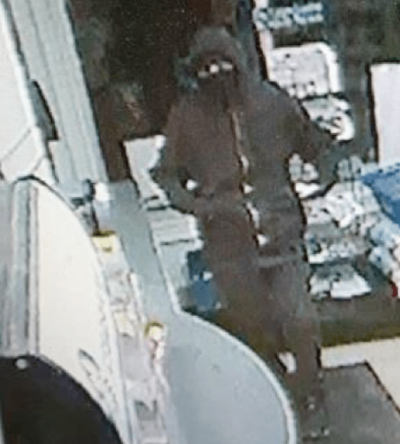 Image of robber involved in Sunday's armed robbery at Bremer Street Market.