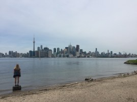 Skyline perspective in Toronto, Canada
