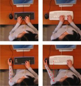 """Il confronto di una tastiera standard ed una """"per mancini"""""""
