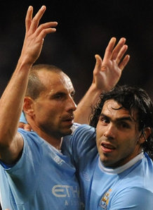 Martin Petrov and Carlos Tevez were both brilliant today for City at Eastlands/Sky Sports Photo