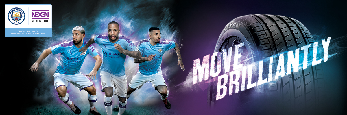 Move Brilliantly. Nexen Tire. Official Partner of Manchester City. Premier League Champions 2018/19.