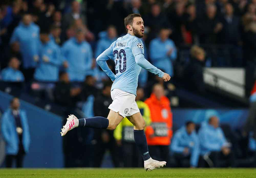 City players have red dot on their head says midfielder Bernardo Silva