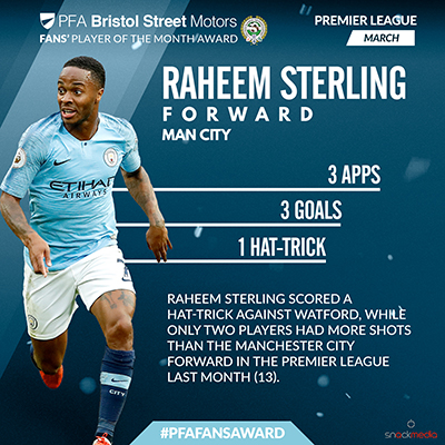 City Star Earns PFA Awards Nomination For March After Stunning Play