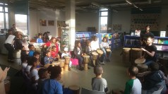 North City Library drumming session