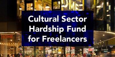 Cultural Sector Hardship fund banner