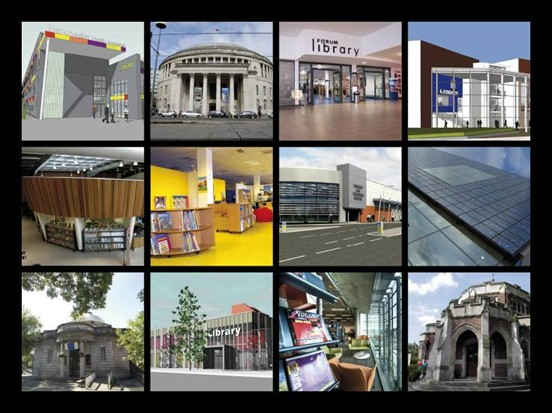 12 Photos of the exterior of Manchester Libraries