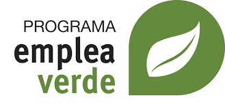 Logo programa emplea verde