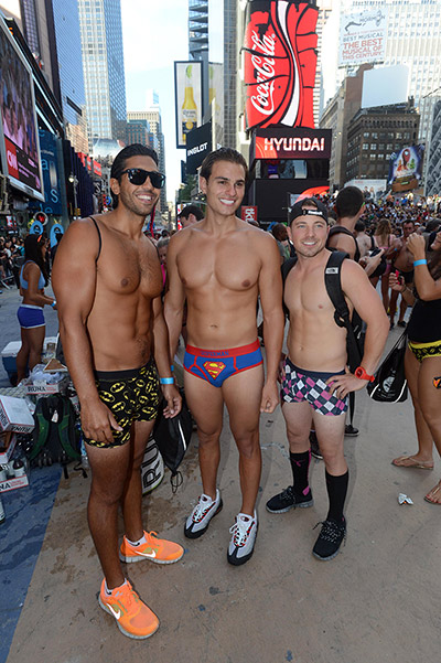 National Underwear Day takes over Time Square, New York