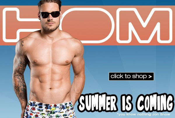Get ready to dash to the pool with HOM swimwear for 2015
