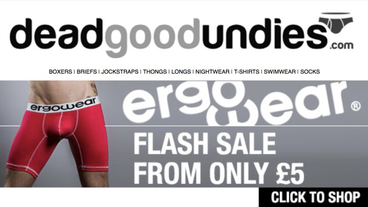 Ergowear flash sale – cheap underwear from £5 at deadgoodundies.com