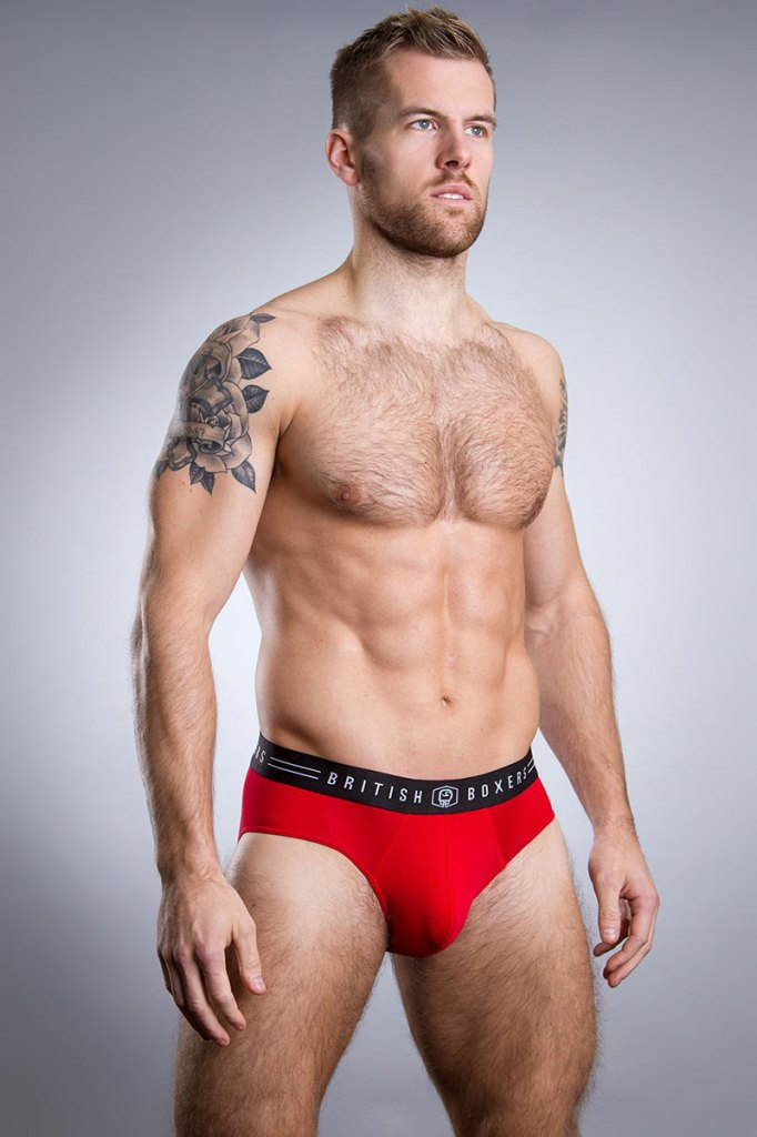 British Boxers Fire Engine Red Brief