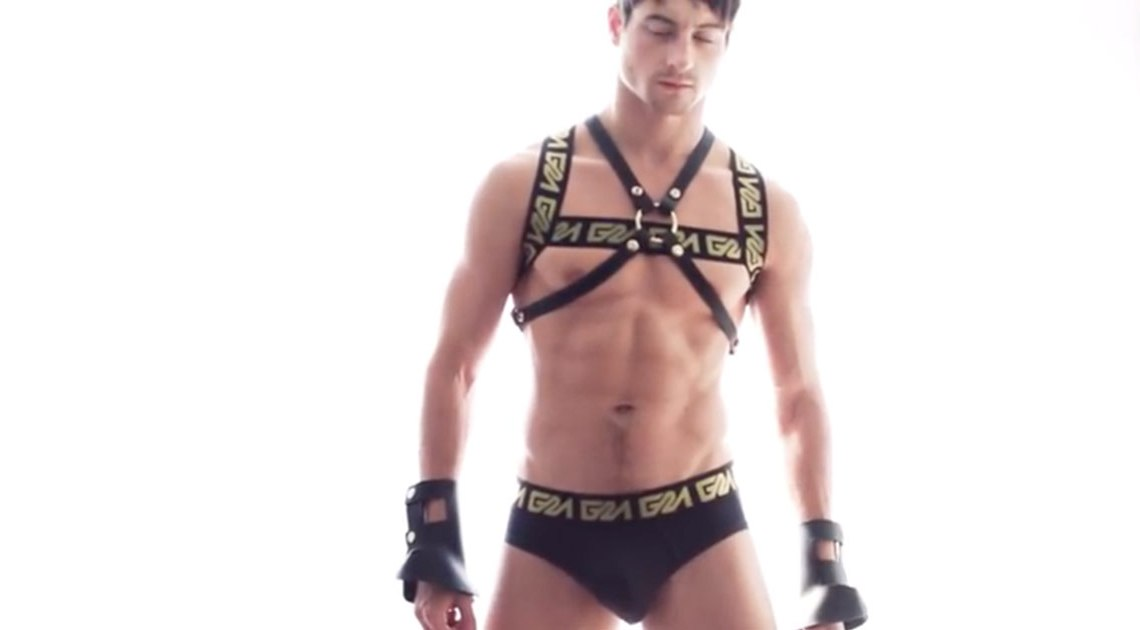 Taylor Reign models Garcon Model Gold Collection