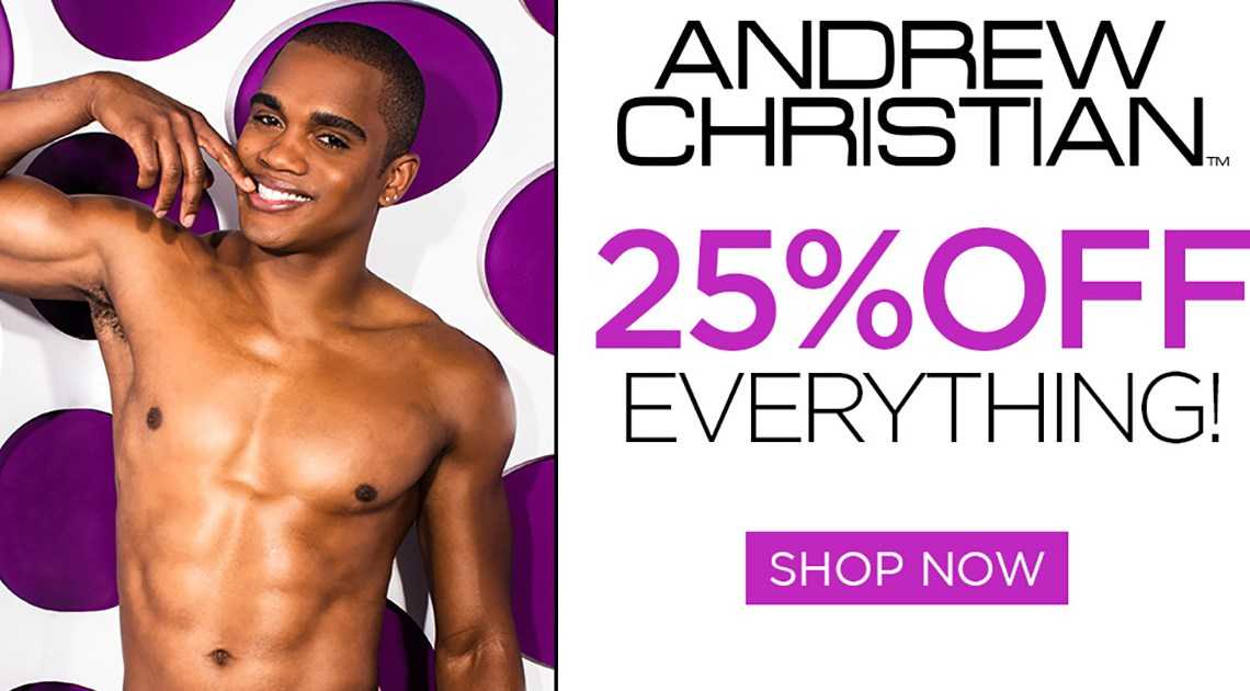 25% off Andrew Christian Underwear in February