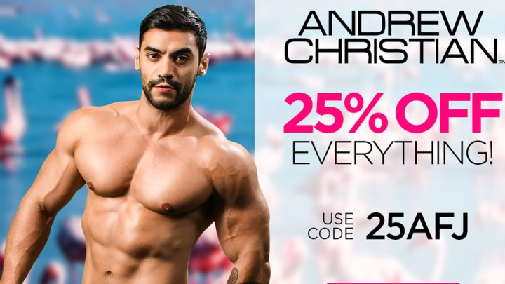 25% off Andrew Christian Underwear in June