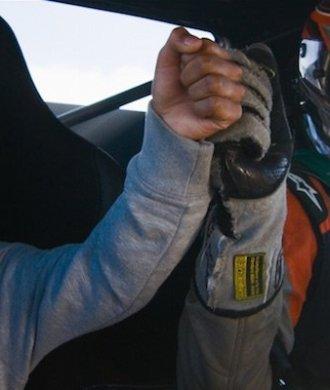 Dreamride LA Fredric Aasbo Scion tC Drift V8 Rennanzug Kind Fist Bump Spaß Fun