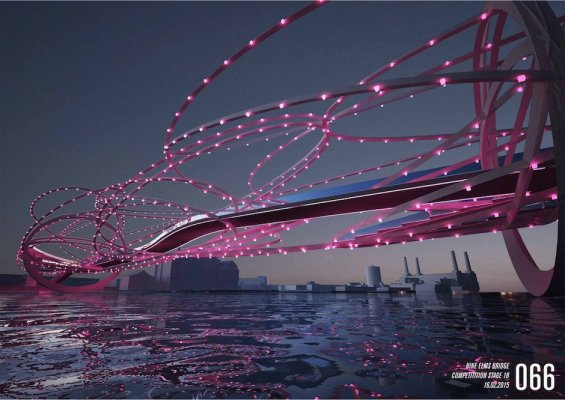 Nine Elms Brücke LED