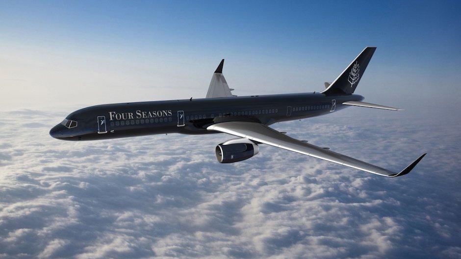 Four Seasons-Jet Hotel Luxus Boeing 757 Umbau Luft Himmel Flug Reisen