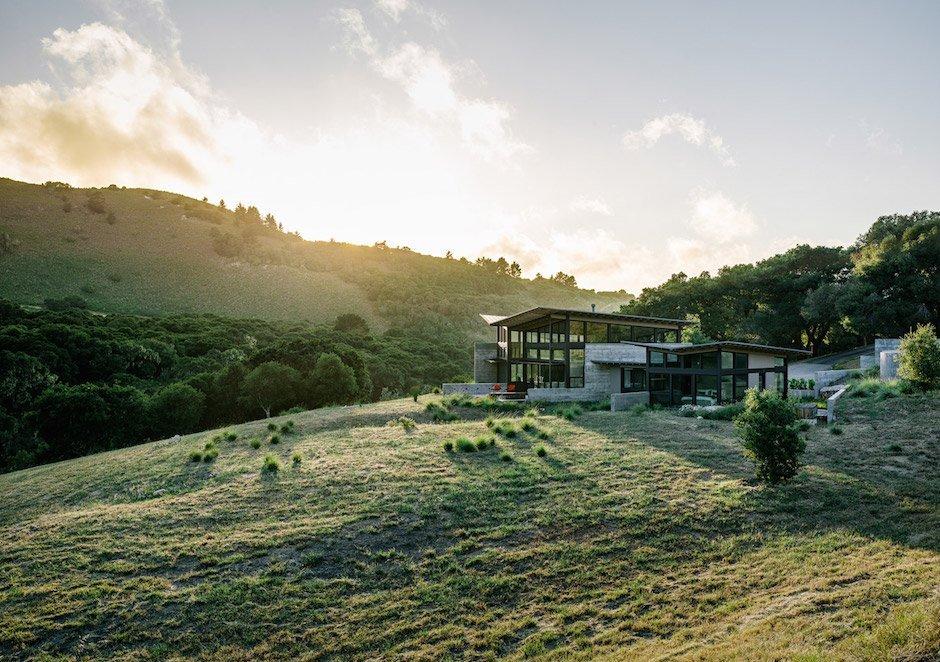Butterfly House Carmel Landschaft Natur Sonnenuntergang California Kalifornien USA Rückzugsort Ruhe Idylle Urlaub Relax modern Architektur Design