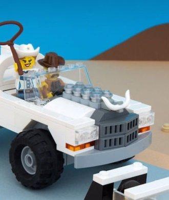 Jeff Friesen Lego Artist Texas Landschaft Legosteine Stereotypen Nachbau USA Roadtrip Lustig Funny