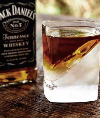 Whiskey Wedge Eiswürfel Glas Jack Daniels Alkohol