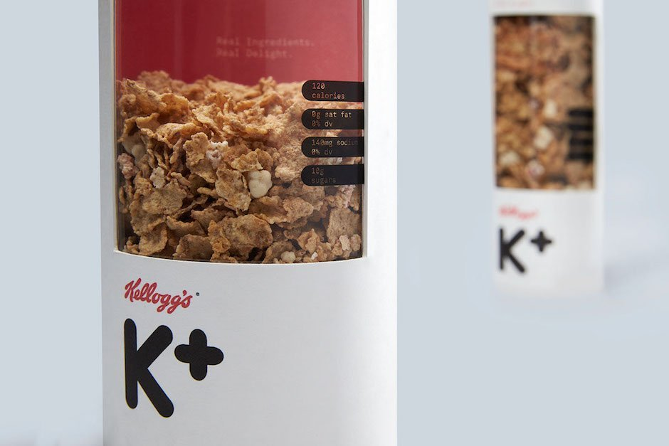 Kellogg's Special K Verpackungsdesign Cornflakes Müsli Fitness Frühstück Rohr Transparent Mun Joo Jane Grafikdesign