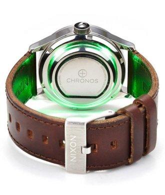 Chronos Smart Disc Smartwatch Armbanduhr grün leuchtend