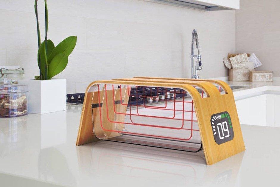 James Stumpf Bamboo Glass Toaster Bambus Glas Heizelemente Küche Modern Stil Industriedesign