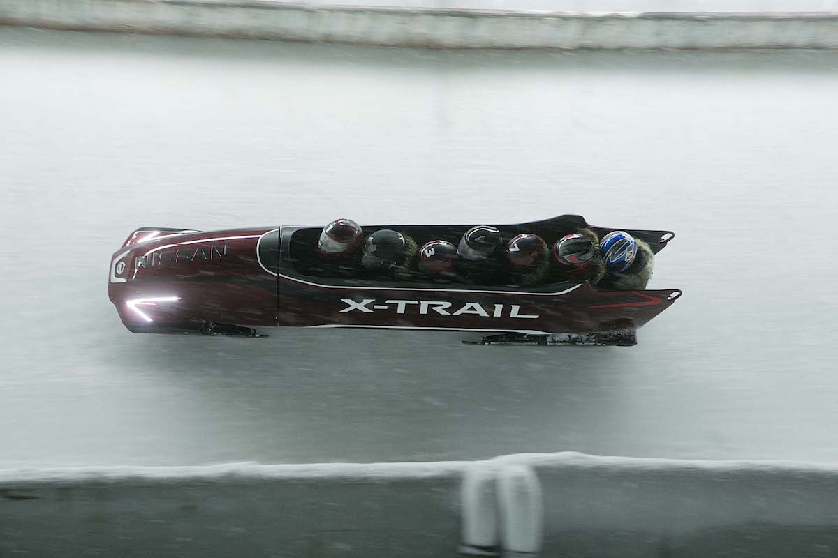 A World's First: Nissan X-TRAIL inspired 7-Seater Bob Runs Olympic Rink in Innsbruck