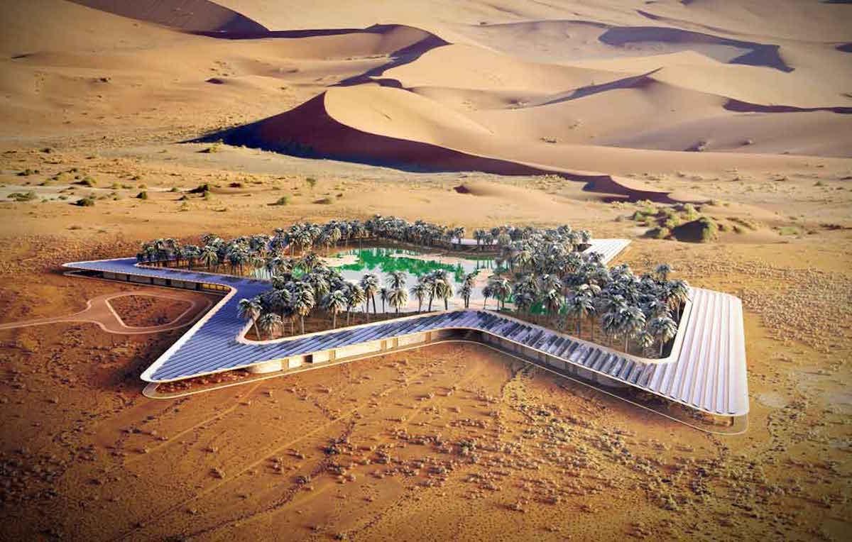 Oasis Eco Resort Baharash Architecture Öko Natur Wüste Hotel Spa Relax Resort VAE Emirate Dubai Leonardo Di Caprio Liwa