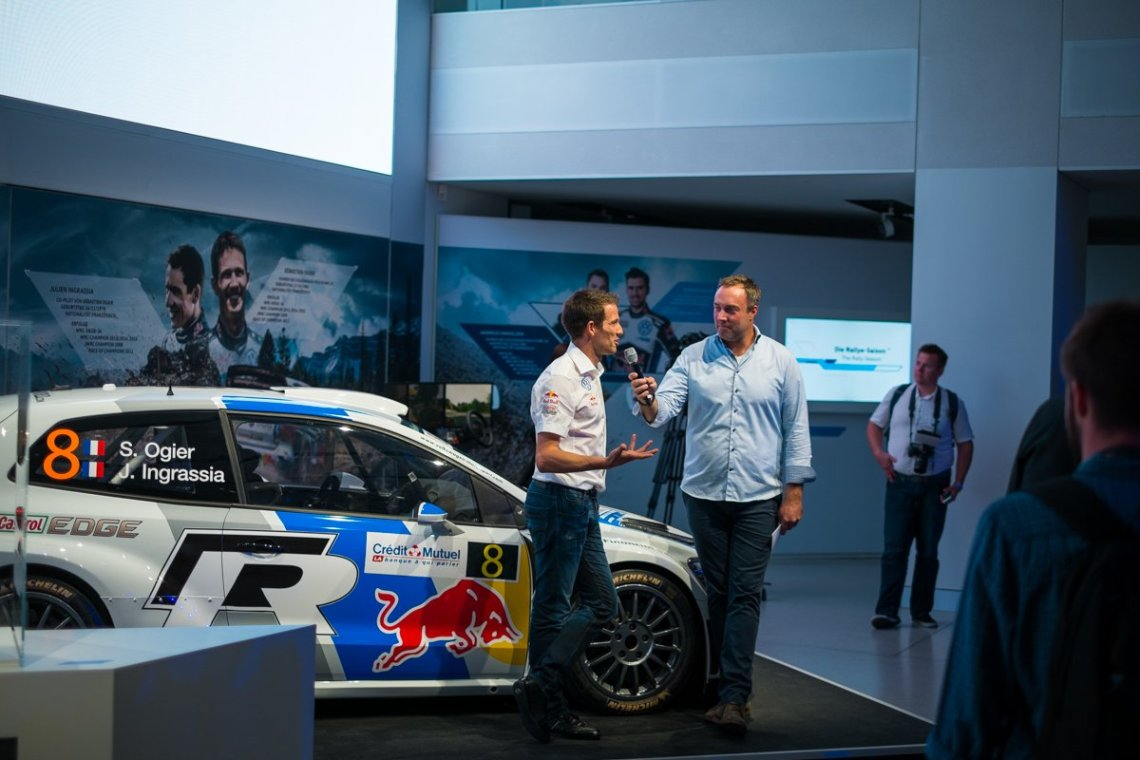 Sebastien Ogier VW Polo R WRC Interview Drive Berlin