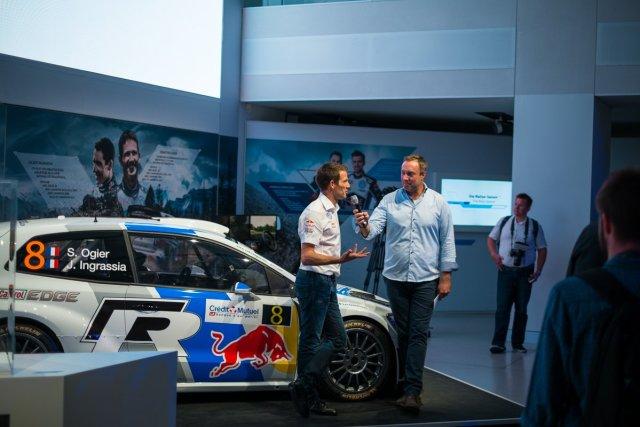 Sebastien Ogier VW Polo R WRC Interview Drive Berlin